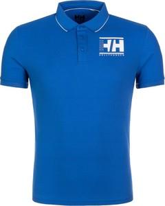 Niebieska koszulka polo Helly Hansen z krótkim rękawem