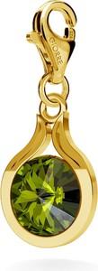 GIORRE SREBRNY CHARMS SWAROVSKI RIVOLI 10MM 925 : Kolor kryształu SWAROVSKI - Olivine, Kolor pokrycia srebra - Pokrycie Żółtym 24K Złotem