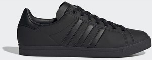 Czarne trampki Adidas Originals z płaską podeszwą ze skóry