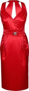 Sukienka Fokus midi bez rękawów z dekoltem w kształcie litery v