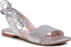 Srebrne sandały Gino Rossi