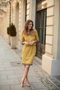 Żółta sukienka La'Aurora