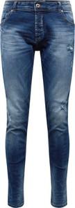 Niebieskie jeansy Solid z jeansu