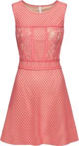 Różowa sukienka bonprix BODYFLIRT boutique mini