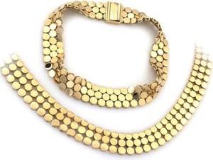 Lovrin Złoty elegancki komplet biżuterii 585 białe złoto