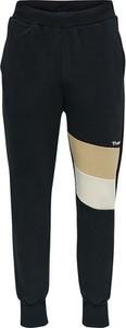 Czarne spodnie sportowe Hummel z dresówki