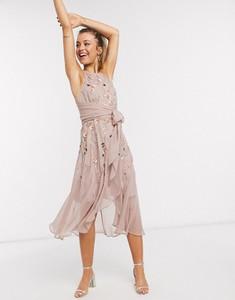 Różowa sukienka Asos bez rękawów