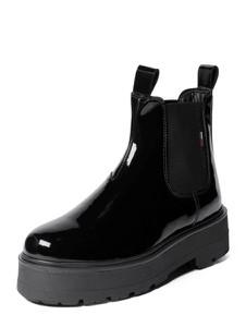 Czarne botki Tommy Jeans w stylu casual