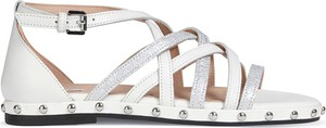 Sandały Geox z płaską podeszwą w stylu casual z klamrami