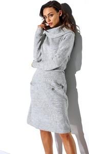 Sukienka Lemoniade midi z wełny z golfem
