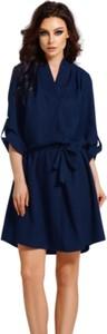 Niebieska sukienka Lemoniade z długim rękawem kopertowa