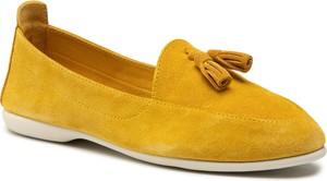 Żółte baleriny Carinii w stylu casual