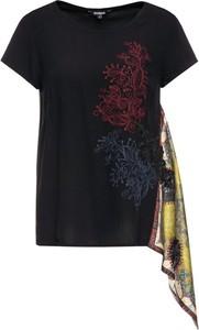 T-shirt Desigual z krótkim rękawem z okrągłym dekoltem