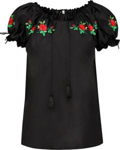 Czarna bluzka JK Collection z krótkim rękawem