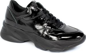 Czarne buty sportowe CheBello ze skóry