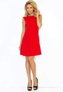 Czerwona sukienka NUMOCO mini z okrągłym dekoltem