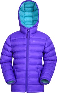 Fioletowa kurtka dziecięca Mountain Warehouse z tkaniny