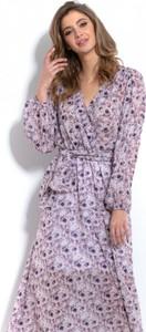 Sukienka Fobya maxi z tkaniny z dekoltem w kształcie litery v