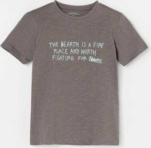 Brązowa koszulka dziecięca Reserved z krótkim rękawem