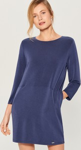 Niebieska sukienka Mohito z długim rękawem oversize