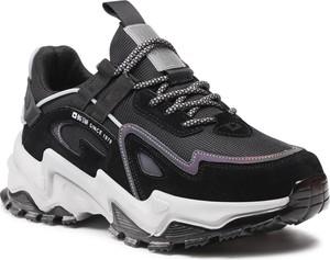Czarne buty sportowe Big Star w sportowym stylu ze skóry