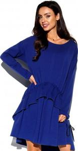 Niebieska sukienka Lemoniade z okrągłym dekoltem