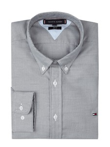 Granatowa koszula Tommy Hilfiger z kołnierzykiem button down