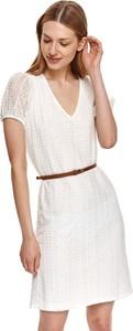 Sukienka Top Secret koszulowa mini z krótkim rękawem