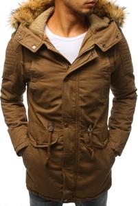 Brązowa kurtka Dstreet z bawełny