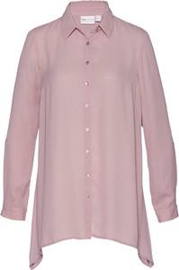 Różowa koszula bonprix bpc selection w stylu casual z kołnierzykiem