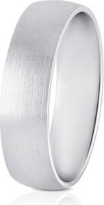 W.KRUK Obrączka ślubna srebrna męska STM/OS336