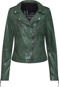 Zielona kurtka Freaky Nation krótka w rockowym stylu