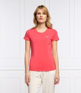 T-shirt Pepe Jeans w stylu casual z okrągłym dekoltem z krótkim rękawem