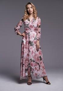 Sukienka Ella Boutique maxi z długim rękawem