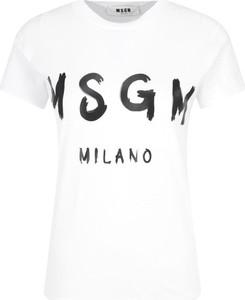 T-shirt MSGM z krótkim rękawem w młodzieżowym stylu