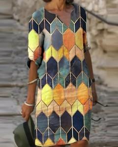 Sukienka Kendallme w stylu casual z długim rękawem z dekoltem w kształcie litery v