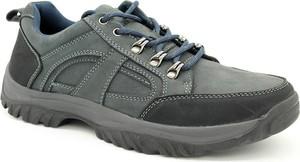 Granatowe buty trekkingowe American Club sznurowane