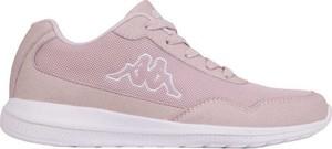Różowe buty sportowe Kappa z płaską podeszwą