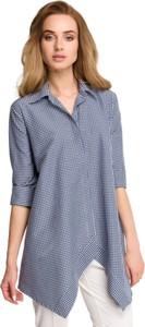 Niebieska koszula Style z tkaniny
