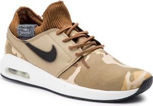 Buty sportowe Nike ze skóry ekologicznej w sportowym stylu sznurowane