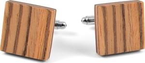 Bug Wooden Accessories Spinki do mankietów z drewna zingana