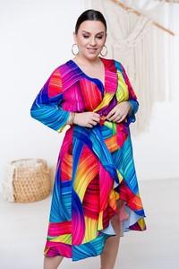 Sukienka Polski w stylu casual z dekoltem w kształcie litery v