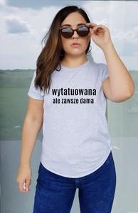 T-shirt Time For Fashion z krótkim rękawem z bawełny z okrągłym dekoltem