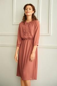 Sukienka Greenpoint z szyfonu w stylu casual midi