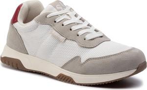 Buty sportowe S.Oliver sznurowane z zamszu