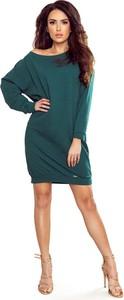 Sukienka NUMOCO z długim rękawem prosta z bawełny