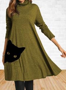 Sukienka Cikelly w stylu casual z długim rękawem