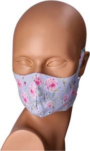 Bertoni Maseczka na twarz wielorazowa niebiesko-różowa