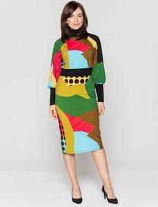 Sukienka Lavard midi w stylu casual ołówkowa