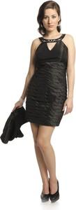 Sukienka Fokus w stylu glamour z dekoltem typu choker